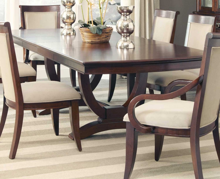 Alyssa Rect Dining Table - Dark Cognac
