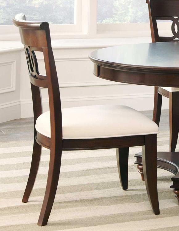 Alyssa Side Chair - Dark Cognac