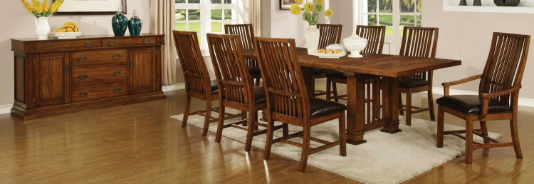 Beaumont Dining Set - Golden Brown