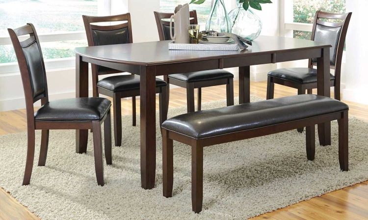 Dupree Dining Set - Dark brown