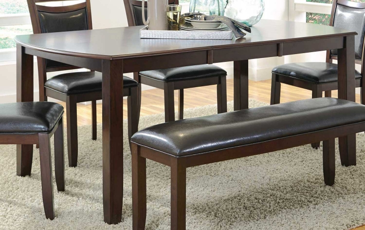 Dupree Dining Table - Dark brown