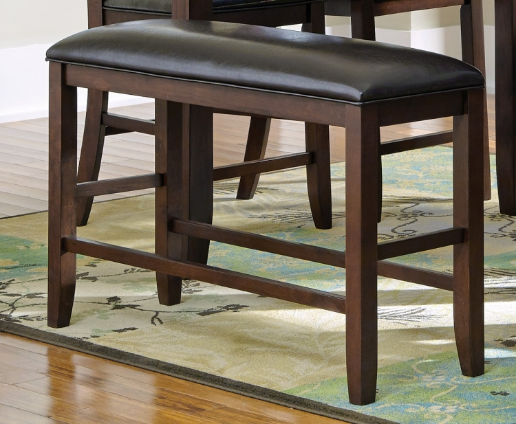 Dupree Counter Height Bench - Dark Brown