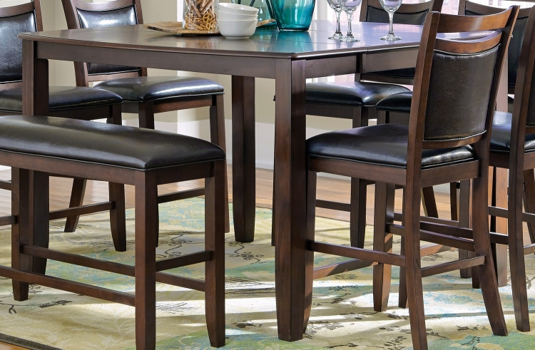 Dupree Counter Height Table - Dark Brown