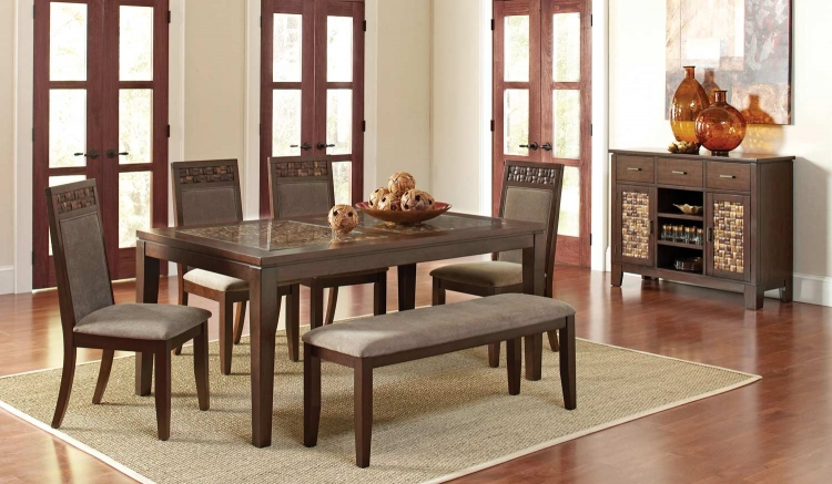 Trinidad Dining Set - Medium Brown