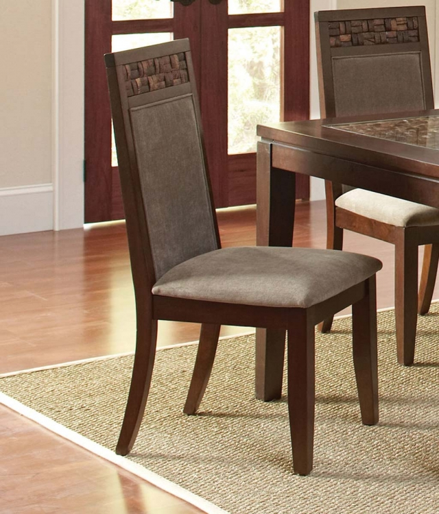 Trinidad Side Chair - Medium Brown