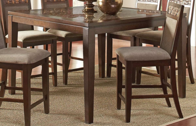 Trinidad Counter Height Table - Medium Brown