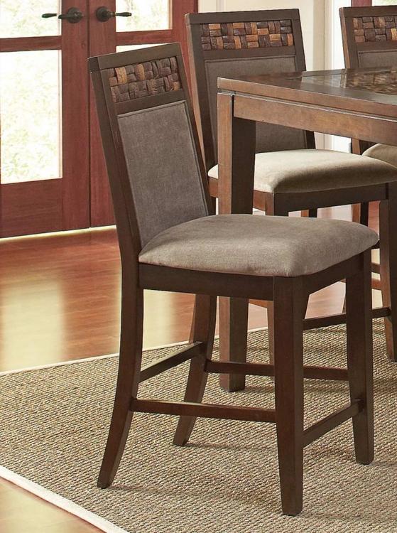 Trinidad Counter Height Chair - Medium Brown