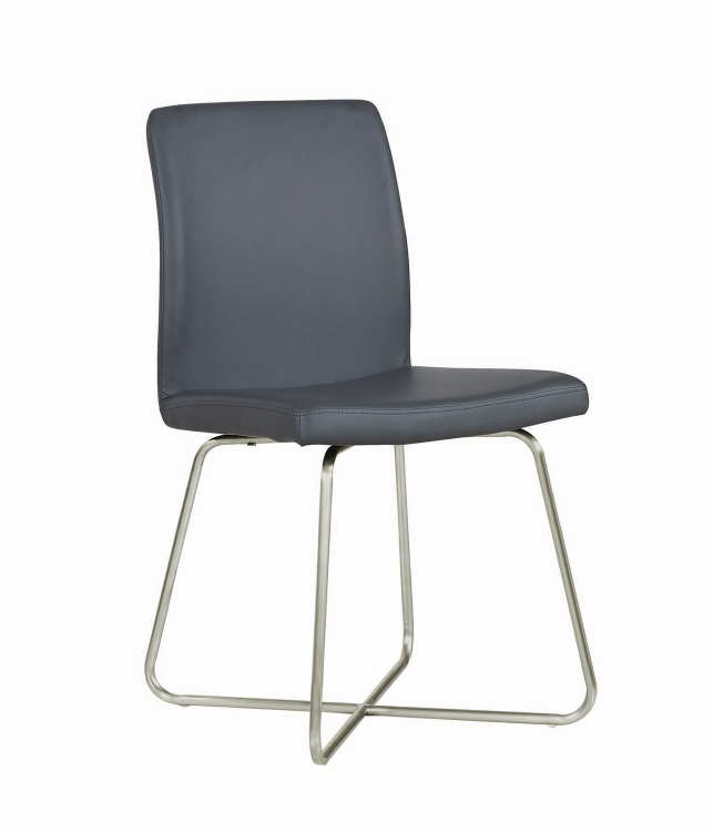 Michonne Dining Side Chair - Grey Leatherette