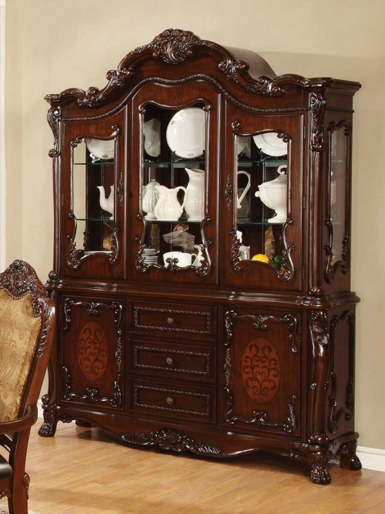 Benbrook Buffet/Hutch - Dark Cherry