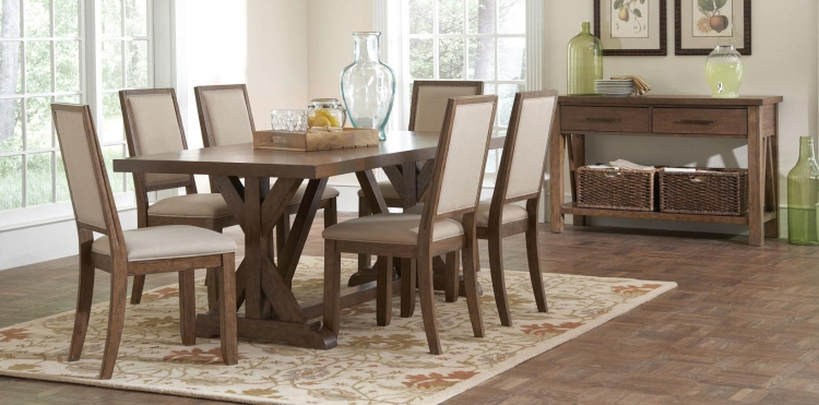 Bridgeport Dining Set - Weathered Acacia