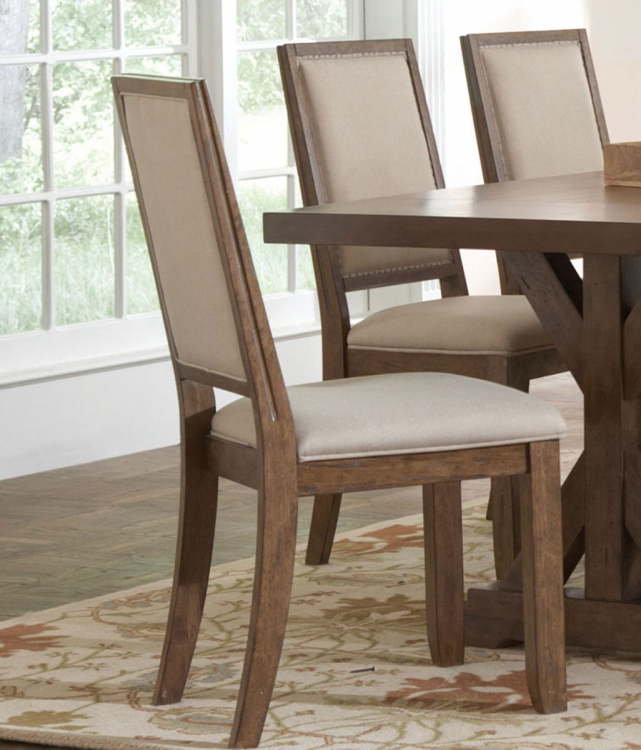 Bridgeport Side Chair - Weathered Acacia