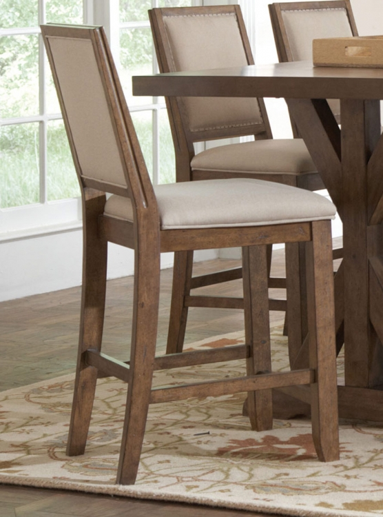 Bridgeport Counter Height Chair - Weathered Acacia