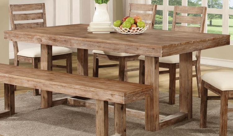 Elmwood Dining Table - Wired Brush Wheat