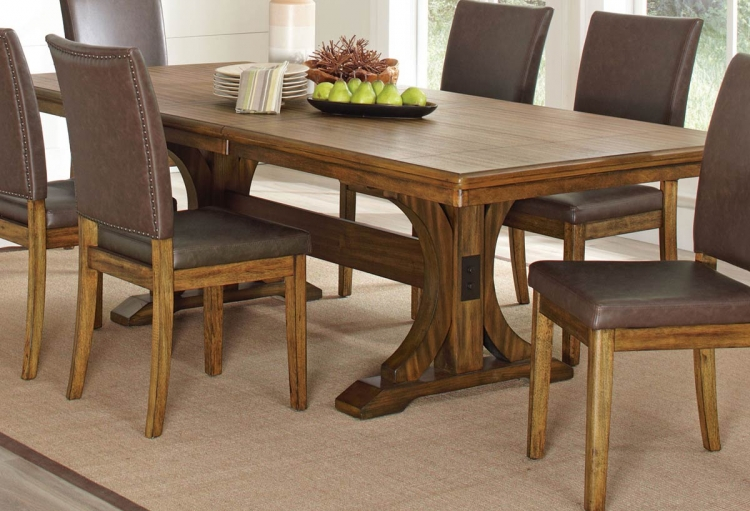 Salerno Dining Table - Wire Brushed Amber
