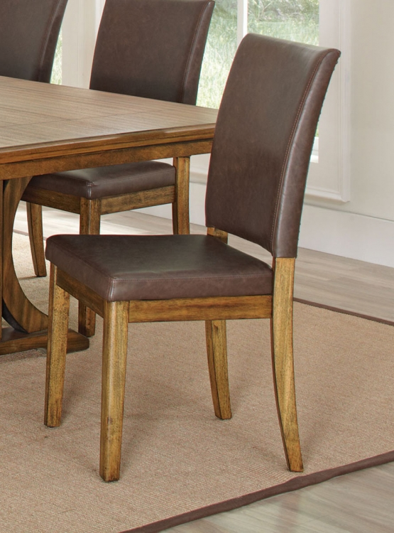 Salerno Side Chair - Wire Brushed Amber