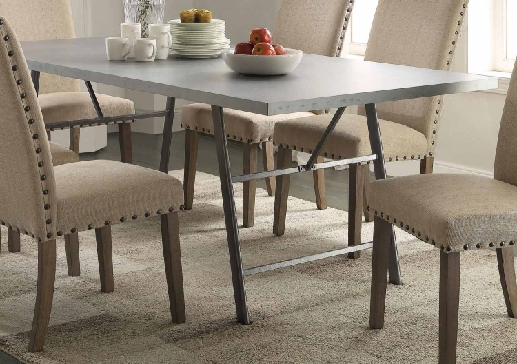 Amherst Dining Table - Natural/Gunmetal