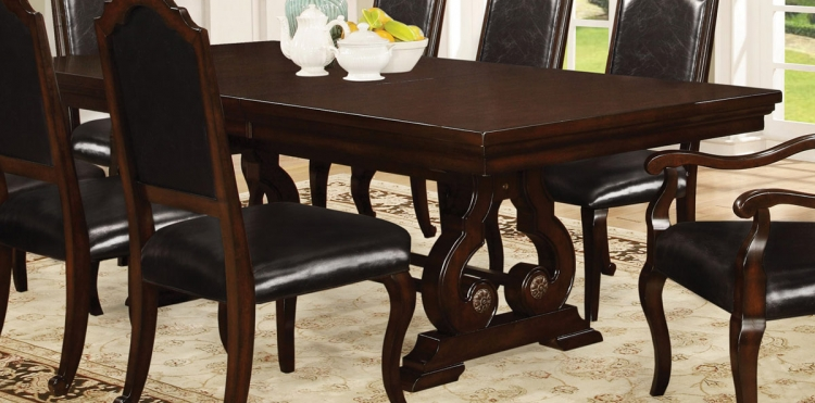 Bedford Dining Table - Dark Mahogany