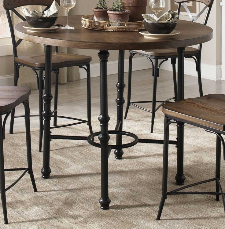 Monticello Counter Height Dining Table - Vintage Ash/Matte Black