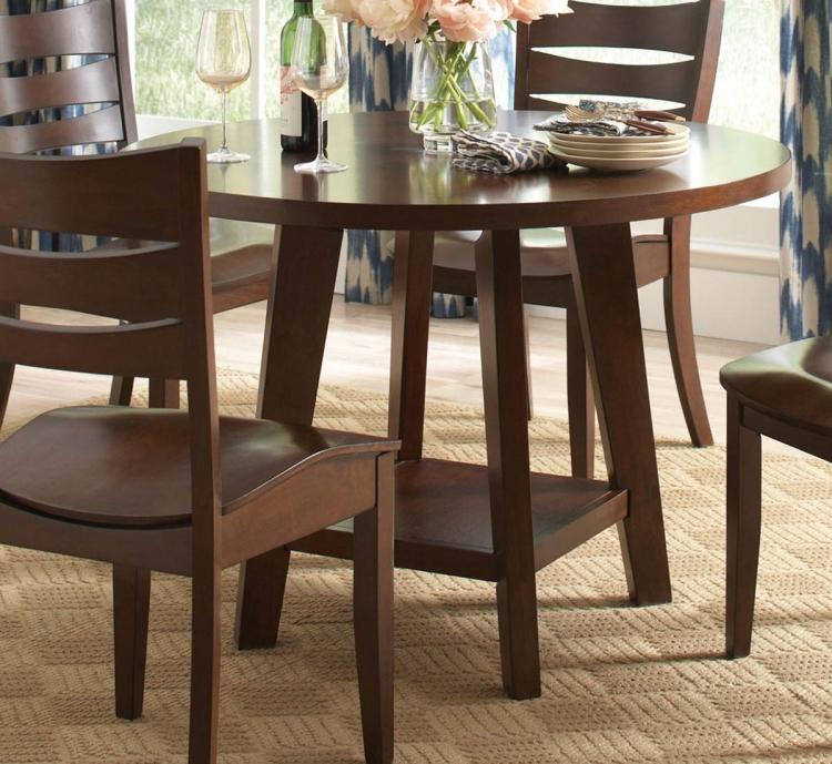 Byron Round Dining Table - Dark Brown