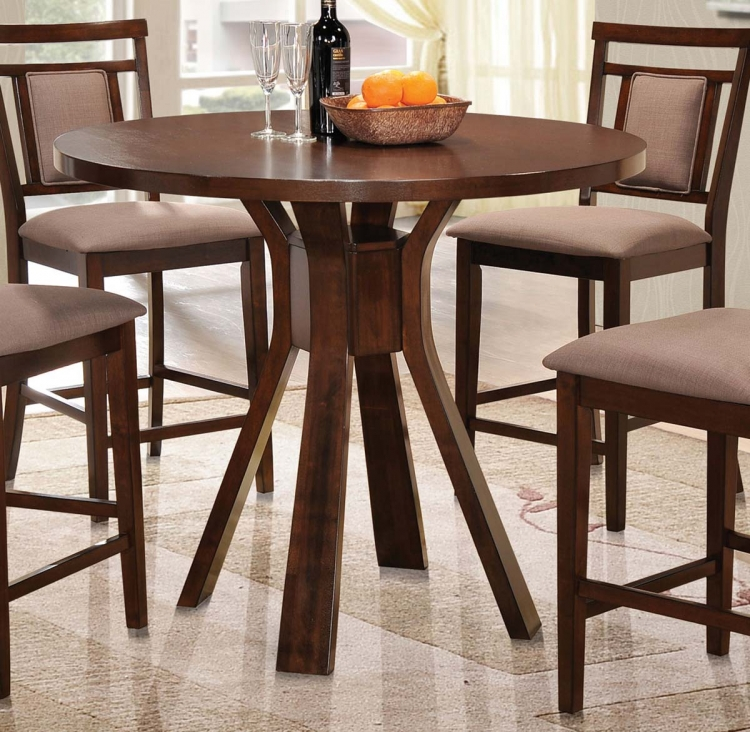 Colona Counter Height Round Dining Table - Dark Brown