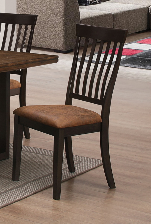 Wood River Side Chair - Two tone rustic Amber & Charcoal