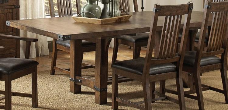 Padima Dining Table - Rustic Cognac