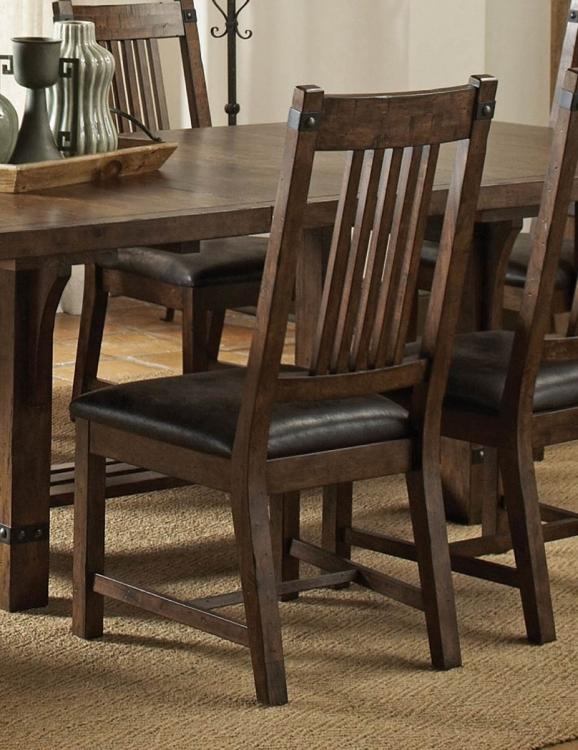 Padima Side Chair - Rustic Cognac