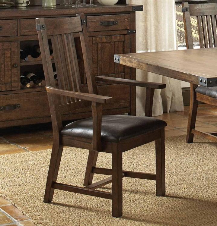 Padima Arm Chair - Rustic Cognac