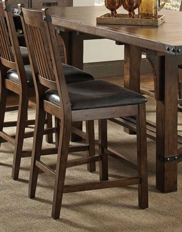Padima Counter Height Chair - Rustic Cognac
