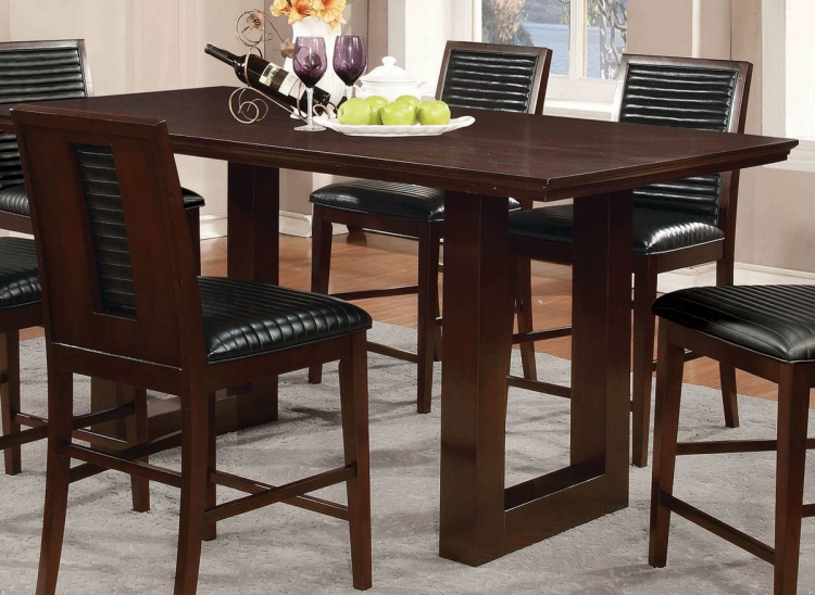 Chester Counter Height Dining Table - Bitter Chocolate