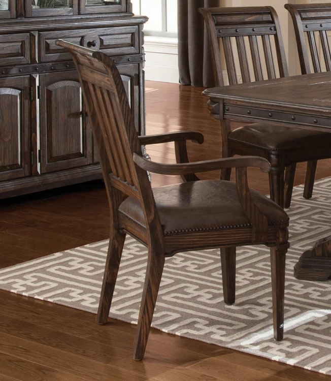 Carlsbad Arm Chair - Dark Brown