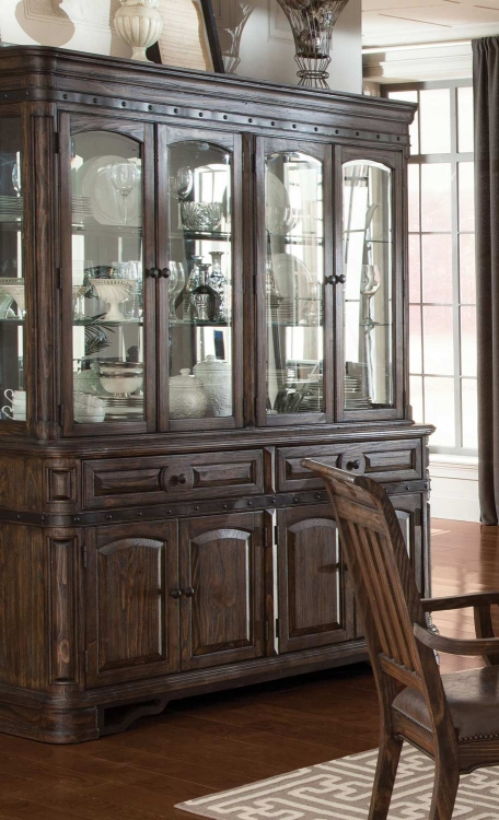 Carlsbad China Cabinet - Dark Brown