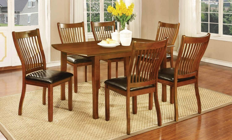Sierra Dining Collection - Amber/Black Leatherette