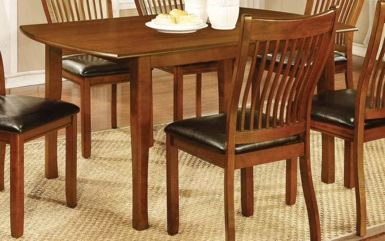 Coaster Sierra Rectangular Dining Table - Amber