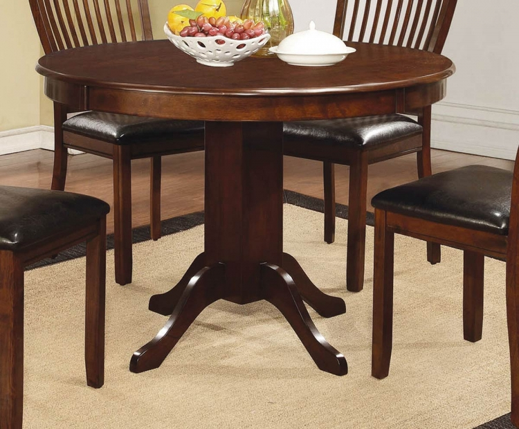 Sierra Round Pedestal Dining Table - Cherry Brown