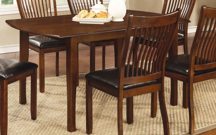 Coaster Sierra Rectangular Dining Table - Cherry Brown