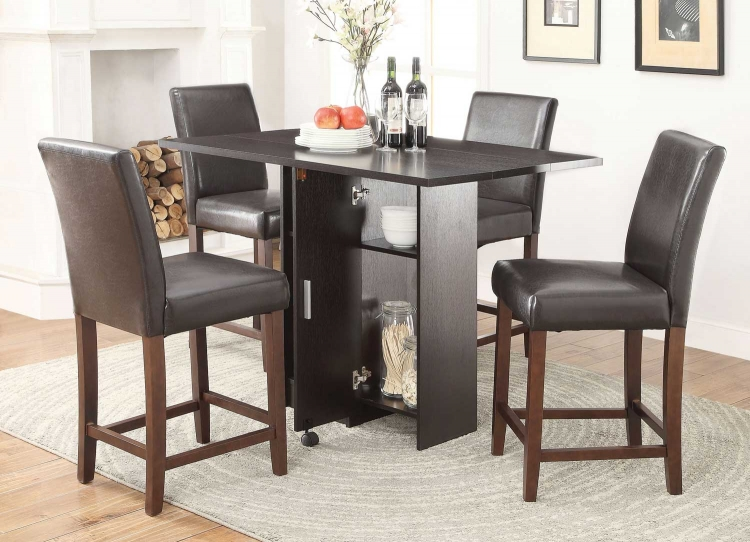 Vista Counter Height Dining Set - Red Cocoa