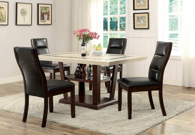 Lacombe Dining Set - Cappuccino