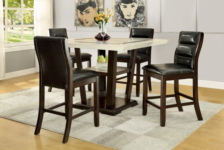 Lacombe Counter Height Dining Set - Cappuccino