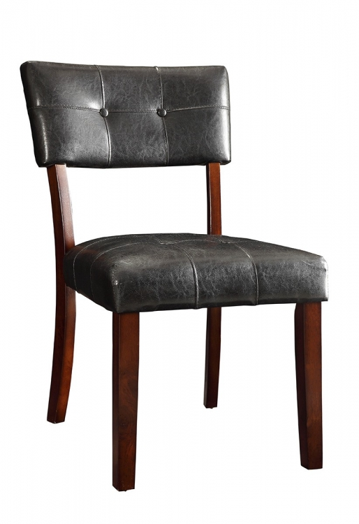 Beaux Side Chair - Cappuccino/Dark Brown Leatherette