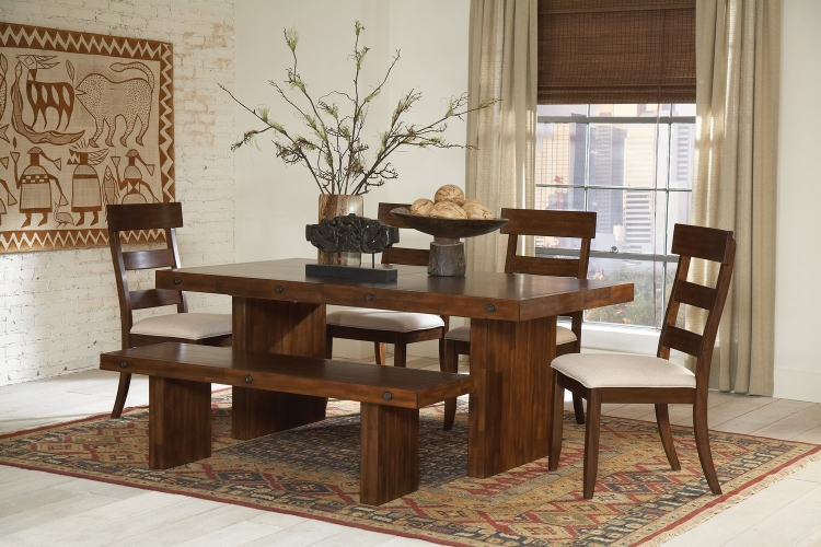 Montague Dining Set - Rustic Brown
