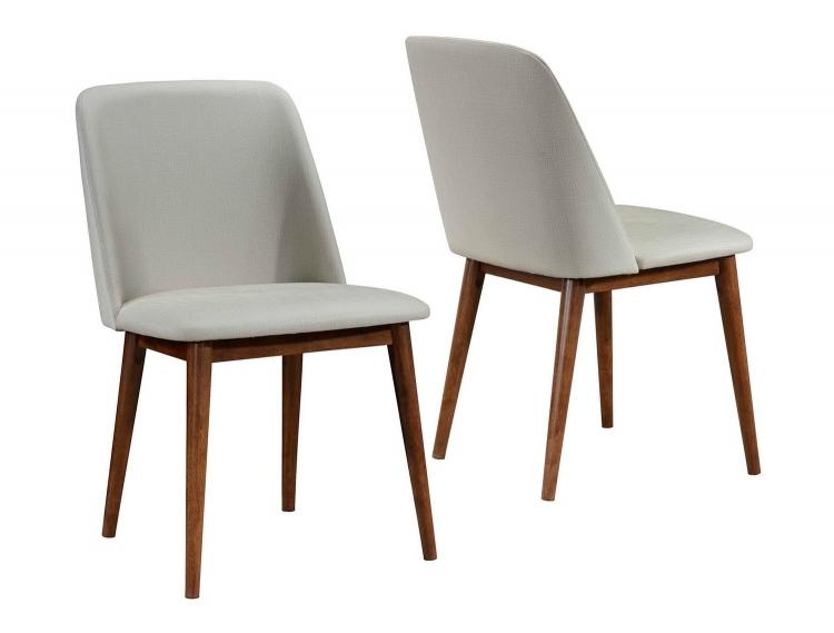 Barett Side Chair - Chestnut/Tan Fabric