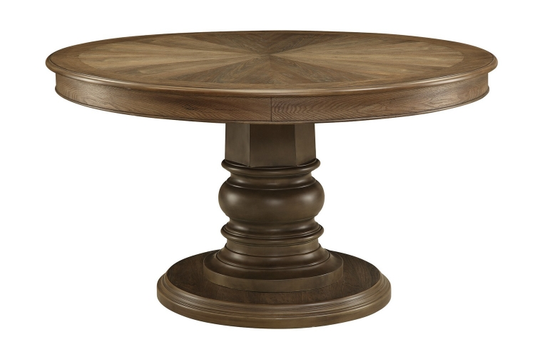 Willem Round Dining Table - Antique Ash Brown