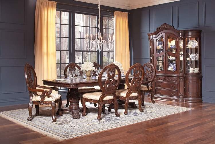 Jacques Dining Set - Dark Cherry