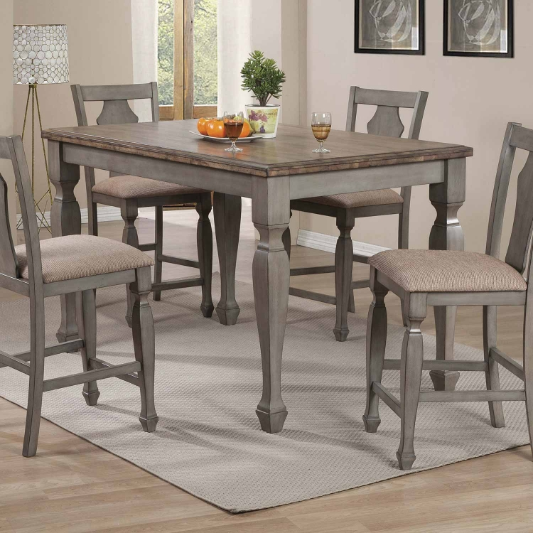 Riverbend Counter Height Table - Wheat/Antique Grey