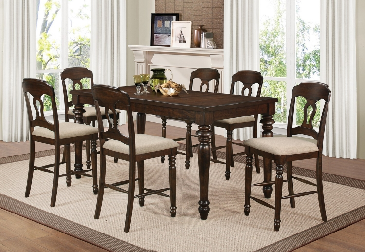 Hamilton Counter Height Dining Set - Antique Tobacco