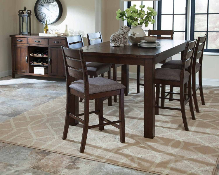 Wiltshire Counter Height Dining Set - Rustic Pecan