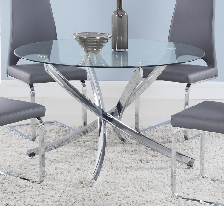 Cudahy Dining Table - Chrome
