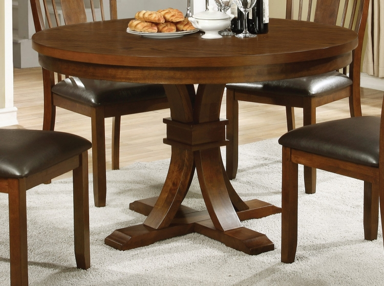Abrams Round Dining Table - Truffle