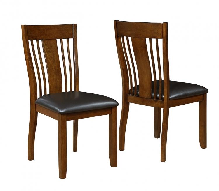 Abrams Side Chair - Truffle/Dark Brown Leatherette